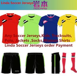 Todas las camisetas de fútbol Hombre niños suéter de la chaqueta de chándales de la mujer Polo de baloncesto Linda y Peak Soccer Jerseys Order Link Tailandia Calidad