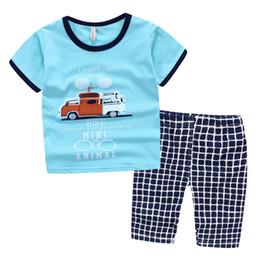 Wholesale Mini moda animal de coches sistemas de los cabritos de la manga corta de la camiseta pantalones cortos de serpiente del bebé muchachos de la ropa se divierte los sistemas niños ropa al por mayor de punto