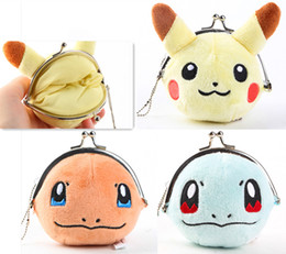 discount mini coin purse frames super cute 3styles poke mon plush frame bag coin purses pikachu
