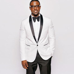 White Suit Jacket Black Trim Online | Mens White Suit Jacket Black ...