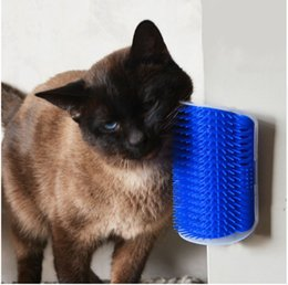 Pet Products For Cats Brush Corner Cat Massage Self Groomer Comb Brush With Catnip Wholesale Free Shipping