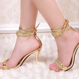 Discount Gold Sandal Heels For Prom  2017 Gold Sandal Heels For