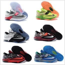 online shopping Original Children Kids Cheap KD VII Basketball Shoes Men KD Retro Sneakers Discount New Arrival For Sale KD7 Original Sport Shoes