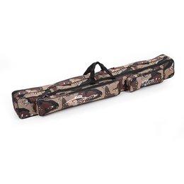 Большая емкость 1.2M Рыбалка мешок двойной слой Удочка Снасти сумка Камуфляж H10622