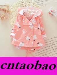 Wholesale Hot Flower Breasted Coat Kids Trench Coats Korean Girl Dress Children Trench Coat Autumn Coat Girls Tops Child Clothes Baby Clothing