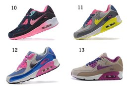 Discount Shoes Run Air Max NEW arrive women max running Shoes with tick max90 shoes US Size:5.5 - 8.5