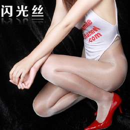 Wholesale Shiny Stockings Slim shiny pantyhose thin D silk stockings Sexy non trace Pantyhose Transparent bright women tights shiny pantyhose