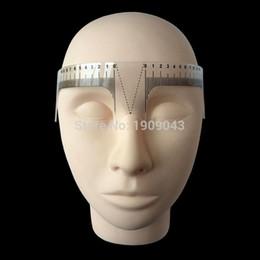 Al por mayor-Nuevos herramienta mide la ceja shape1piece gobernante microblading componen la herramienta permanente para medir frente perfecta