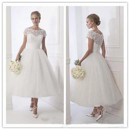 Discount Designer Tea Length Wedding Dresses Sleeves - 2017 ...