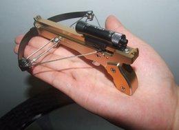 Новейшая ручная обработка с ЧПУ 2IN1 Мини арбалет с жесткой анодированной алюминиевой моделью стрельбы из лука с красным лазерным лучом Mini Bow