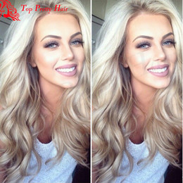 2017 ombre human hair wave New Hairstyle 27 Blond Human Hair Wigs With Lace Front Body Wave Blonde Wigs Black Women Blonde Ombre Lace Front Wigs Baby Hair ombre human hair wave promotion