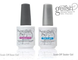 Wholesale Top quality Harmony Gelish polish Top and Base coat Soak off LED UV Gel nail polish foundation Top it off Nail art lacquer nail gel prime