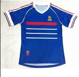discount classic football jerseys hot top quality retro classic french soccer jersey 1998 world cup