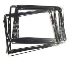 Original del bisel del capítulo medio nuevo plástico con adhesivo de mediana Negro Blanco para Apple iPad 2 3 4 Bisel marco 50pcs Lote