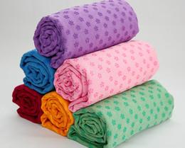 online shopping New Plum Point Non Slip Yoga Mats Quality Yoga Blanlzets cm Extended Yoga Towel Exercise Yoga Blanket Multicolor Optional