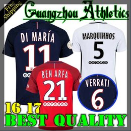 2016 2017 survetement verratti matuidi cavani di maria zlatan maillot de foot 16 17 shirt jersey