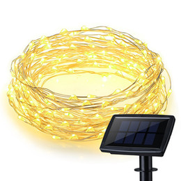 online shopping 150 LEDs Waterproof Solar Powered Starry String Copper Wire Fairy Lighting Party Lights with Large Solar Panel for Indoor Outdoor Decoration