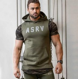 Wholesale and retail men hooded sleeveless shirt cotton sports vest vest sleeveless crime exercise fitness hoodie sweater