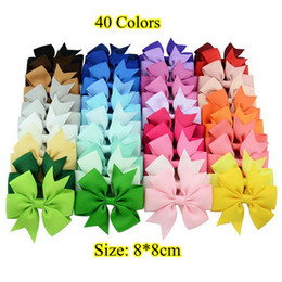 Wholesale Hair Bows Hair Pin for Kids Girls Children Hair Accessories Baby Hairbows Girl Hair Bows with Clips Flower Hair Clip F564 Hot Colors