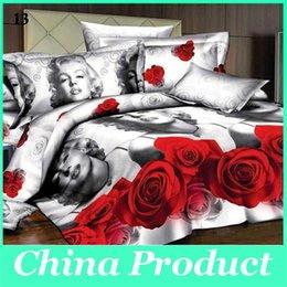Буэ / черный / фиолетовый Красивые розы 3D комплект постельных принадлежностей Пододеяльник / Простыня / наволочки / Постельное белье Новый стиль