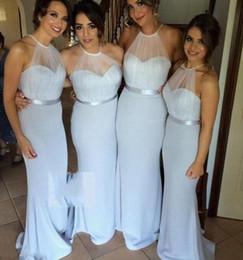 Discount Halter Grey Bridesmaid Dress | 2017 Halter Grey ...