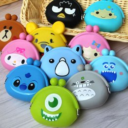 Wholesale Cartoon Silicone Coin Purse Rubber Wallet Case Key Holder Storage Bag Small