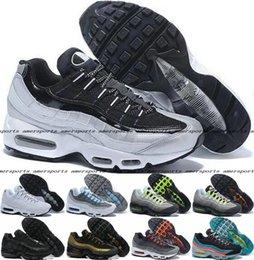 2016 Shoes Run Air Max 2016 Men Running Shoes Max95 Mens Retro Cushion Air White Max 95 OG Sport Airmax Shoes Authentic Sports 95s Boots Sneakers Maxes EUR46 cheap Shoes Run Air Max