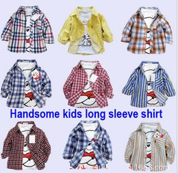 2017 wholesale shirts for summer Cool 2016 new kids shirts for boys Girls plaid shirt Spring autumn summer thin long sleeve shirt for girl blouses children clothes wholesale cheap wholesale shirts for summer