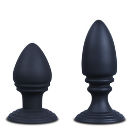 Wholesale Large column type sucker butt plug silicone anal plug anal sex toys waterproof Anal dilation massage Adult sex products