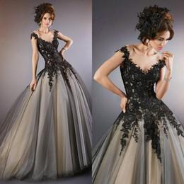 Discount Gothic Evening Dress Black - 2017 Long Black Gothic ...