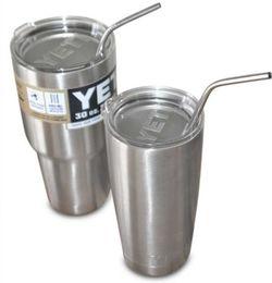 100pcs / lot Frete Grátis Yeti palha de aço inoxidável palha de aço potável palhas 8,5