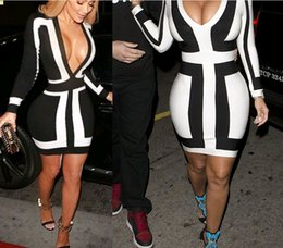 online shopping 2016 Sexy women dresses Black and white stitching bandage dress OL dress professional women s clothing Cotton cloth