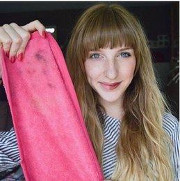 Clean Away démaquillant visage chiffon-chimique libre, lavable à la machine, mascara propre écologique avec de l'eau