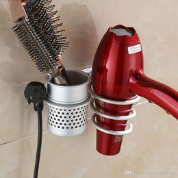 Novo secador de cabelo montado na parede secador pente Rack suporte rack stand organizador de armazenamento nova qualidade mundial excelente loja