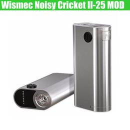 100% Original Wismec Noisy Cricket II-25 MOD Machine complète 2 Facultatif Circuit Wismec Neutron RDA Atomiseur e cigs Mise à jour Modèles de boîte à vapeur DHL