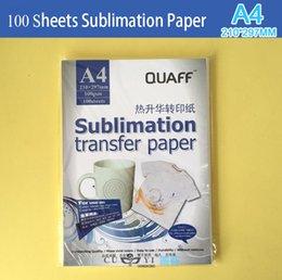 2017 heat sublimation paper 100pcs lot Heat Transfer Printing Paper, A4 Sublimation transfer paper