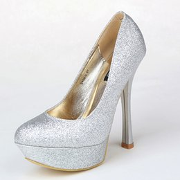 Silver evening dress shoes