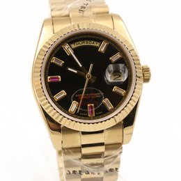 discount original men gold watch 2017 original men gold watch on new luxury mens watch automatic movement gold stainless steel day date sapphire glass original clasp aaa quality for man 36mm cheap original men gold watch