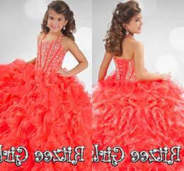 32c16f2d1 Coral Organza Flower Girl NZ