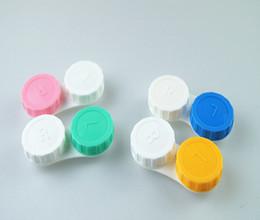 Wholesale Contact Lens Box Case Holder Container Case For Lenses Travel Glasses Contact Lenses Box Contact lens Case for Eyes Care