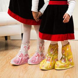 80 пар Новый детский мультфильм Rainshoe с толстым дном Boots Мода водонепроницаемый обуви охватывает детей противоскользящие сапоги в дождливый день на открытом воздухе ZA0601