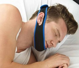 Wholesale New Stop Snorin Anti Snore Strap Apparatus with Anti snore Chin Strap X MM Stop Snoring Belt Anti Snoring Chin Jaw Supporter