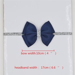 online shopping 196 color new Baby hair bow flower Headband Silver ribbon Hair Band Handmade DIY hair accessories for children newborn toddler