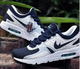 Discount Shoes Run Air Max Wholesale 2016 Max Zero QS 87 Running Shoes For Men New Color High Quality Brands Air Cushion Trainers Mens Sports Shoes Free Shipping