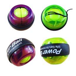 2016 светодиодные наручные Power Ball Сила Сила Предплечье Тренажер Бал Гироскопическая запястье Упражнение Болл Бодибилдинг силовые тренировки оборудование