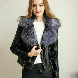 Discount Leather Jacket Fox Fur Collar Men | 2017 Leather Jacket ...