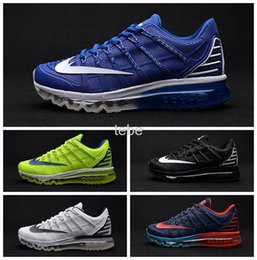 2016 Shoes Run Air Max Fashion Men Max 2016 II Nanometer Shoes New arrival Me-sh Breathable Running Shoes Top Quality Sport Trainer Run Sneakers Air Size 40-46 discount Shoes Run Air Max