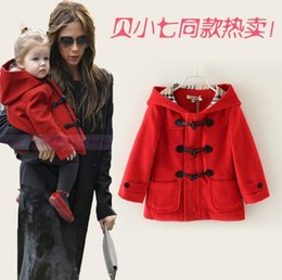 Discount Red Woolen Girls Coat | 2017 Red Woolen Girls Coat on ...
