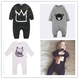 Wholesale newborn baby boy clothes INS Romper GOLD Cross boys boys Jumpsuit one pice rompers boy modelling jumpers moulding long sleeve cool
