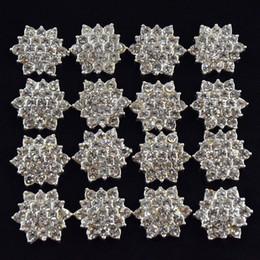 Wholesale Flat Back Crystal Rhinestone Button For Hair Flower Wedding Invitation Rhinestone Applique Accessories